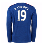 2016-17 Man United Away Long Sleeve Shirt (Rashford 19) - Kids