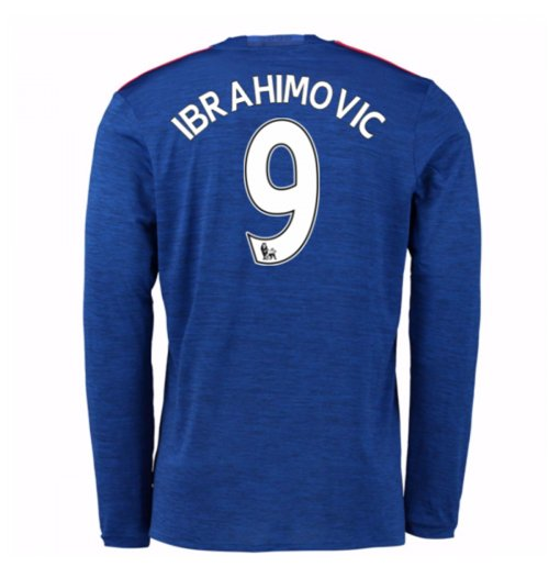 2016-17 Man United Away Long Sleeve Shirt (Ibrahimovic 9) - Kids