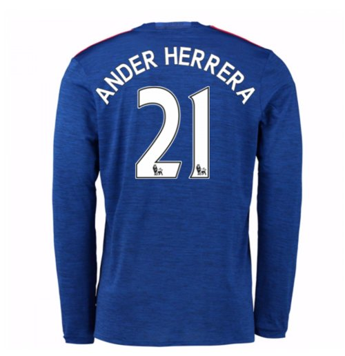 2016-17 Man United Away Long Sleeve Shirt (Ander Herrera 21)