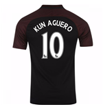 2016-17 Manchester City Away Shirt (Kun Aguero 10)