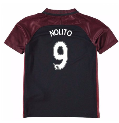 2016-17 Manchester City Away Mini Kit (Nolito 9)