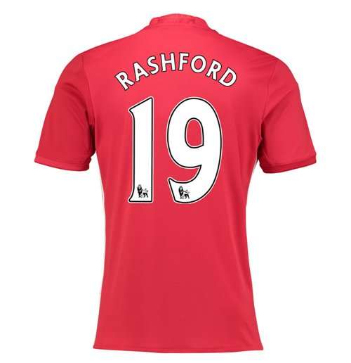 2016-17 Manchester United Home Shirt (Rashford 19)
