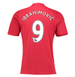 2016-17 Manchester United Home Shirt (Ibrahimovic 9) - Kids