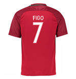 2016-17 Portugal Home Shirt (Figo 7)