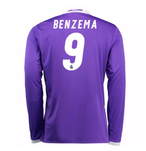 2016-17 Real Madrid Away Shirt (Benzema 9) - Kids
