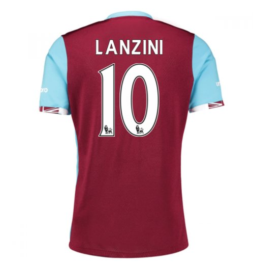 2016-17 West Ham Home Shirt (Lanzini 10)
