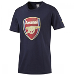 2016-2017 Arsenal Puma Big Crest Fan Tee (Black Iris) - Kids