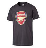 2016-2017 Arsenal Puma Big Crest Fan Tee (Ebony) - Kids