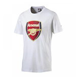 2016-2017 Arsenal Puma Big Crest Fan Tee (White) - Kids