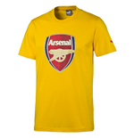 2016-2017 Arsenal Puma Big Crest Fan Tee (Yellow) - Kids