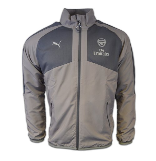 2016-2017 Arsenal Puma Casual Performance Woven Jacket (Grey) - Kids