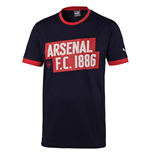 2016-2017 Arsenal Puma Fan Slogan Tee (Peacot) - Kids