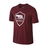 2016-2017 AS Roma Nike Crest Tee (Team Red)