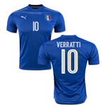 2016-2017 Italy Puma Home Shirt (Verratti 10)