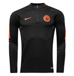 2016-2017 Man City Nike Training Drill Top (Black-Orange)
