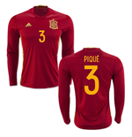 2016-2017 Spain Long Sleeve Home Shirt (Pique 3)