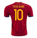 2016-2017 Spain Home Shirt (Your Name) -Kids
