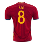 2016-2017 Spain Home Shirt (Xavi 8) - Kids
