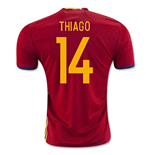 2016-2017 Spain Home Shirt (Thiago 14) - Kids