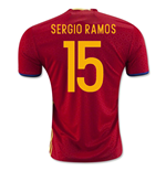 2016-2017 Spain Home Shirt (Sergio Ramos 15)