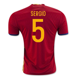 2016-2017 Spain Home Shirt (Sergio 5) - Kids