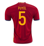 2016-2017 Spain Home Shirt (Puyol 5) - Kids