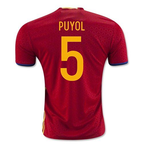2016-2017 Spain Home Shirt (Puyol 5)