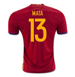 2016-2017 Spain Home Shirt (Mata 13) - Kids