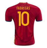 2016-2017 Spain Home Shirt (Fabregas 10)