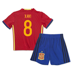 2016-2017 Spain Home Mini Kit (Xavi 8)