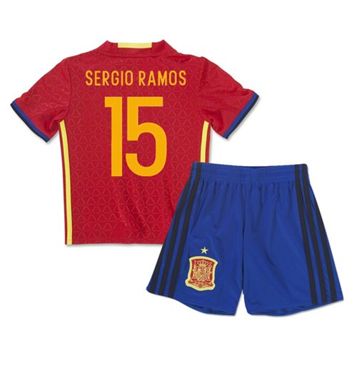 watch 2f9f9 29b3e 2016-2017 Spain Home Mini Kit (Sergio Ramos 15)