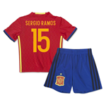 2016-2017 Spain Home Mini Kit (Sergio Ramos 15)