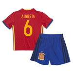 2016-2017 Spain Home Mini Kit (A.Iniesta 6)