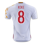 2016-2017 Spain Adidas Away Shirt (Koke 8)