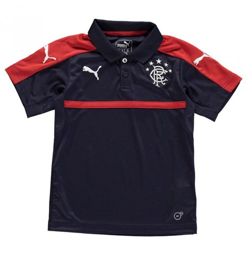 2016-2017 Rangers Puma Polo Shirt (Navy) - Kids