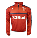 2016-2017 Rangers Puma Half Zip Training Top (Chilli Pepper)