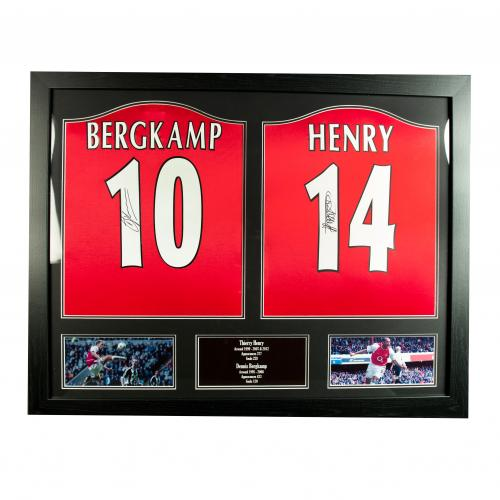 Arsenal F.C. Bergkamp & Henry Signed Shirts (Dual Framed)