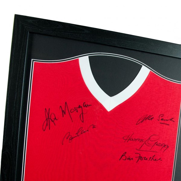 Manchester United F.C. 1958 Busby Babes Signed Shirt (Framed)