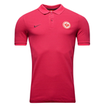2016-2017 Eintracht Frankfurt Nike Authentic Polo Shirt (Fuschia Flux)