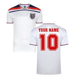 Score Draw England World Cup 1982 Home Shirt (Your Name)