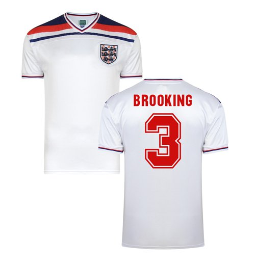 Score Draw England World Cup 1982 Home Shirt (Brooking 3)