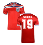 Score Draw England World Cup 1982 Away Shirt (Wilkins 19)