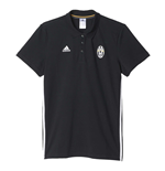 2016-2017 Juventus Adidas 3S Polo Shirt (Black)