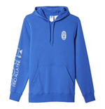2016-2017 Juventus Adidas Cotton Hoody (Blue)