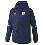 2016-2017 Schalke Adidas Rainjacket (Dark Blue)