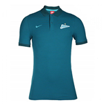 2016-2017 Zenit Nike Authentic League Polo Shirt (Midnight Turq)