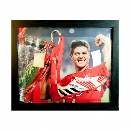 Liverpool F.C. Gerrard Signed Boot (Framed)