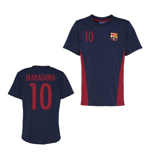 Official Barcelona Training T-Shirt (Navy) (Maradona 10)