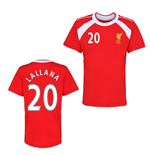 Official Liverpool Training T-Shirt (Red) (Lallana 20)