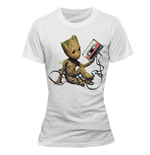 Guardians of the Galaxy 2 Ladies T-Shirt Groot & Tape
